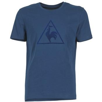 material Men short-sleeved t-shirts Le Coq Sportif ABRITO T MARINE