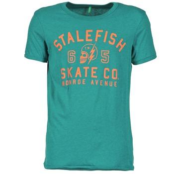 material Men short-sleeved t-shirts Benetton IXIDINE Green