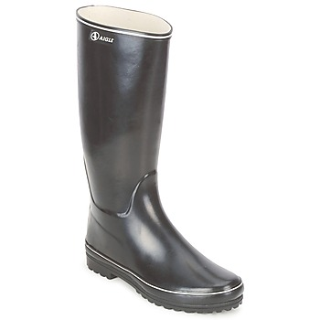 Shoes Women Wellington boots Aigle VENISE Black / White