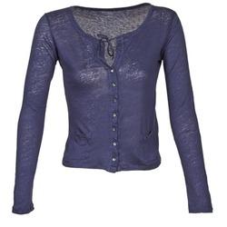 material Women Jackets / Cardigans Majestic BATHILDE Blue