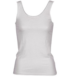 material Women Tops / Sleeveless T-shirts Majestic 701 White