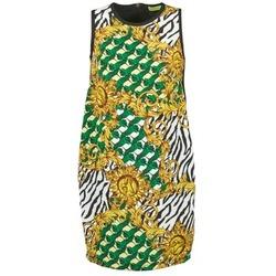 material Women Short Dresses Versace Jeans NDM909 BIS Black / Multicoloured