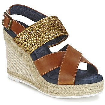 Shoes Women Sandals Napapijri BELLE Camel / Gold