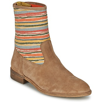 Shoes Women Mid boots Goldmud COLON TAUPE / Multicoloured