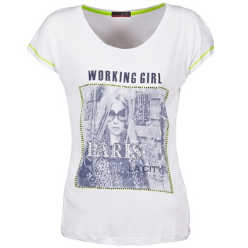 material Women short-sleeved t-shirts La City TMCD3 White