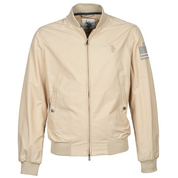 material Men Blouses U.S Polo Assn. USA FLAG BOMBER BEIGE