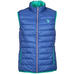 material Men Duffel coats U.S Polo Assn. USPA LT PADDED VEST Blue
