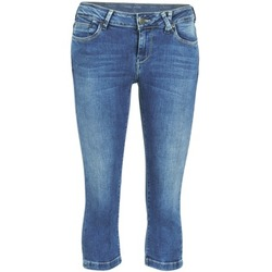 material Women cropped trousers Teddy Smith PANDOR COURT COMF USED Blue / Medium