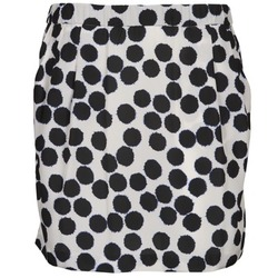 material Women Skirts Lola JUNGLE Black / White
