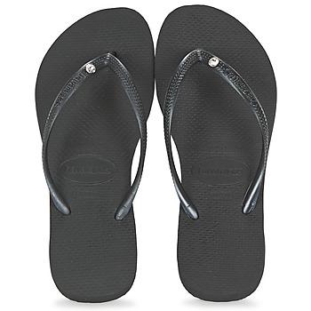 Shoes Women Flip flops Havaianas SLIM CRYSTAL GLAMOUR SWAROVSKI Black
