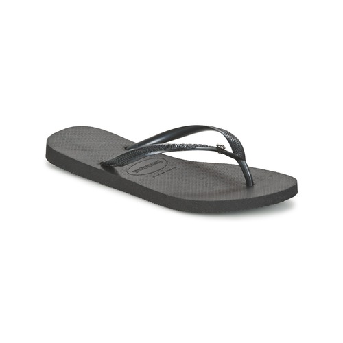 9276b582b Havaianas SLIM CRYSTAL GLAMOUR SWAROVSKI Black - Free delivery with ...