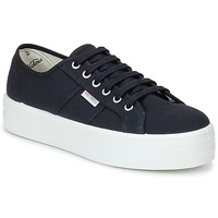 Shoes Women Low top trainers Victoria BLUCHER LONA PLATAFORMA Black