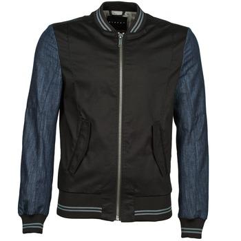 material Men Blouses Sisley 2ID2533A9 Black / Blue