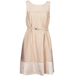material Women Short Dresses Manoukian 613374 Beige