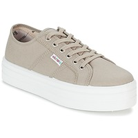 Shoes Women Low top trainers Victoria BLUCHER LONA PLATAFORMA Beige