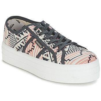 Shoes Women Low top trainers Victoria BASKET ETNICO PLATAFORMA CORAL / Grey