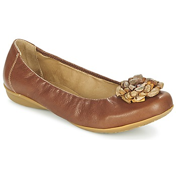 Shoes Women Ballerinas Dkode FALLON Cognac