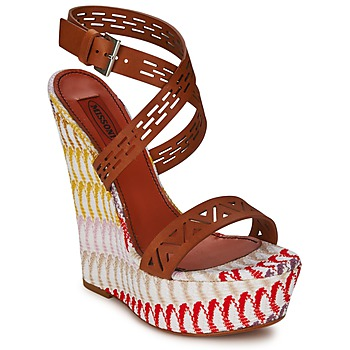 Shoes Women Sandals Missoni XM015 Brown / Multicoloured