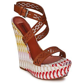 Shoes Women Sandals Missoni XM015 Brown / Multicoloured