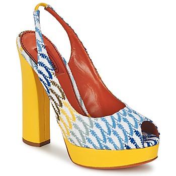 Shoes Women Court shoes Missoni XM005 Yellow / Blue