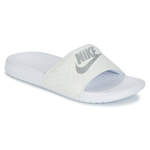 Shoes Women Sliders Nike BENASSI JUST DO IT W White / Silver