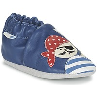 Shoes Boy Baby slippers Robeez JOLLY PEG Blue