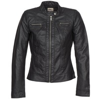 material Women Leather jackets / Imitation le Only BANDIT Black