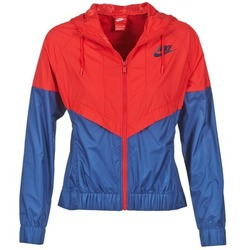 material Women Macs Nike WINDRUNNER Marine / Red