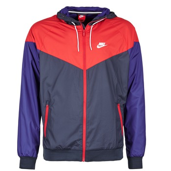 material Men Macs Nike WINDRUNNER MARINE / Red / Blue