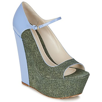 Shoes Women Court shoes John Galliano S54261 Blue / Green