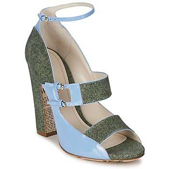 Shoes Women Sandals John Galliano A54250 Blue / Green