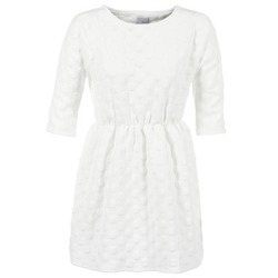 material Women Short Dresses Compania Fantastica FRENE White