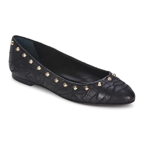 Shoes Women Ballerinas Versace DSL787C Black / Gold