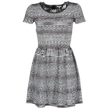 material Women Short Dresses Manoush BIJOU ROBE Black / Grey