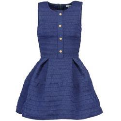 material Women Short Dresses Manoush ELASTIC Blue