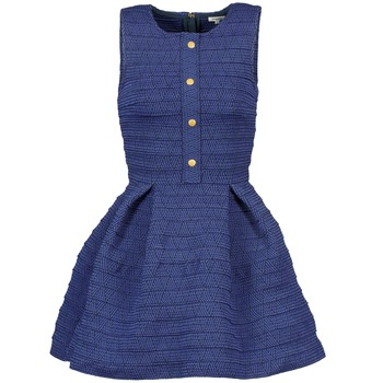material Women Short Dresses Manoush ELASTIC Blue