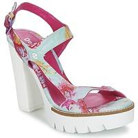 Shoes Women Sandals Desigual VENICE TURQUOISE / Pink