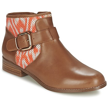 Shoes Women Mid boots Mellow Yellow VABEL Brown / Orange