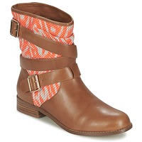 Shoes Women Mid boots Mellow Yellow VABELO Brown / Orange
