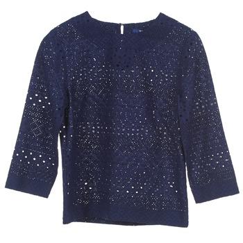 material Women Blouses Gant 431951 Blue