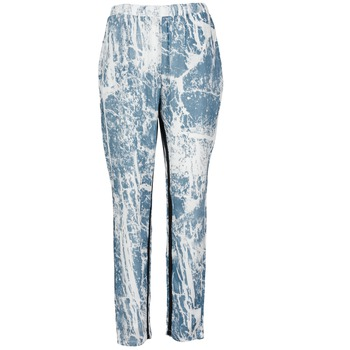 material Women Wide leg / Harem trousers Vila GRUNGE ME Blue / White