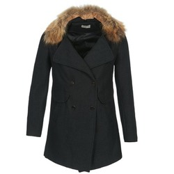 material Women coats Betty London DEFIA Black