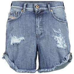 material Women Shorts / Bermudas Diesel DE SCOTT Blue