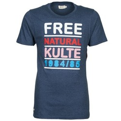 material Men short-sleeved t-shirts Kulte AUGUSTE FREE Blue