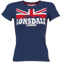 material Women short-sleeved t-shirts Lonsdale ERYKAH Blue