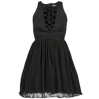 material Women Short Dresses Manoush MARILACET Black