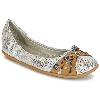 Shoes Women Ballerinas Regard SOLI Silver / BEIGE