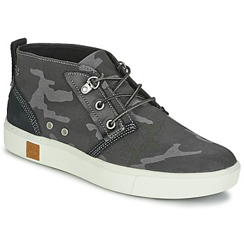 Shoes Men High top trainers Timberland AMHERST CHUKKA Grey / Camouflage / Black