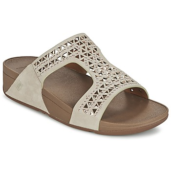 Shoes Women Mules FitFlop CARMEL SLIDE Beige