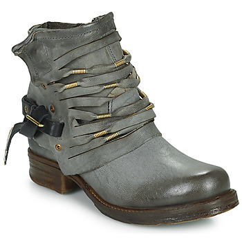 Shoes Women Boots Airstep / A.S.98 SAINT Black / Smoke